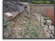 Retaining Wall - before